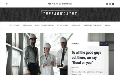 Screenshot of Blog menswearhouse.com - The Men's Wearhouse Blog - Guideline to all things men - captured Nov. 9, 2019