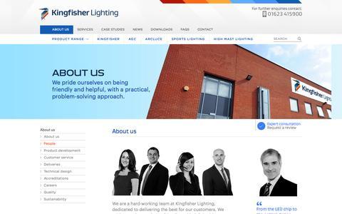 Screenshot of Team Page kingfisherlighting.com - About us - People - Kingfisher Lighting - captured Nov. 3, 2014