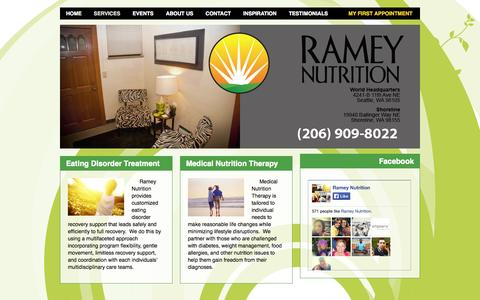 Screenshot of Services Page rameynutrition.com - Ramey Nutrition » Services - captured Oct. 9, 2014