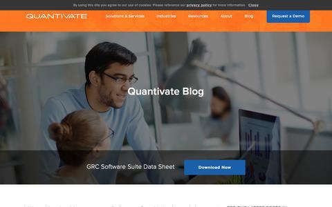 Screenshot of Team Page quantivate.com - Vendor Management Archives | Page 3 of 5 | Quantivate - captured Dec. 3, 2019