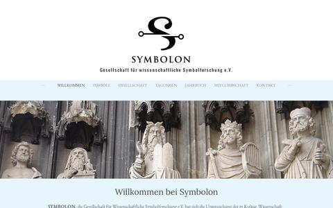 Screenshot of Home Page symbolforschung.org - Symbolon - Gesellschaft für wissenschaftliche Symbolforschung e.V. - Willkommen - captured April 24, 2018