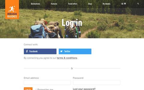 Screenshot of Login Page roughguides.com - Rough Guides Community | Log In | Rough Guides - captured June 20, 2017