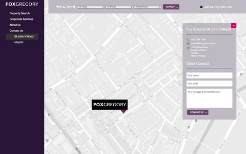 Screenshot of Contact Page foxgregory.co.uk - Contact our St Johns Wood office | foxgregory.co.uk - captured Aug. 4, 2016