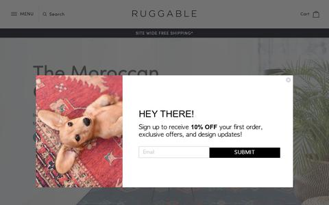 Screenshot of Home Page ruggable.com - Machine Washable & Stylish Rugs - RUGGABLE - captured Nov. 5, 2018