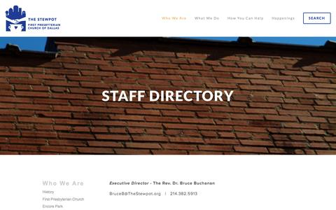 Screenshot of Contact Page thestewpot.org - Staff Directory — The Stewpot - captured June 16, 2016