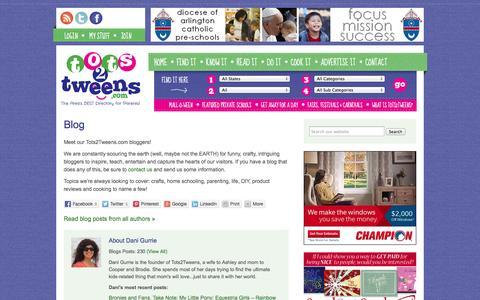 Screenshot of Blog tots2tweens.com - Blog - Tots2Tweens - captured Oct. 7, 2014