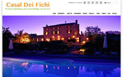 Screenshot of Home Page casaldeifichi.com - Casal dei Fichi holiday apartments to rent in Le Marche, Italy - captured July 11, 2016
