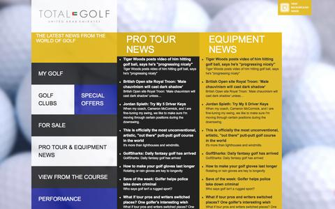 Screenshot of Press Page totalgolf.ae - Pro Tour & Equipment News | Total Golf UAE - captured Feb. 24, 2016