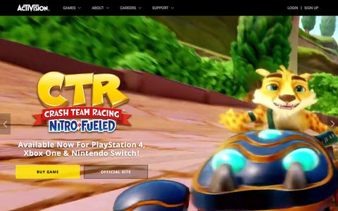 Screenshot of Home Page activision.com - Activision   Home - captured Sept. 17, 2019