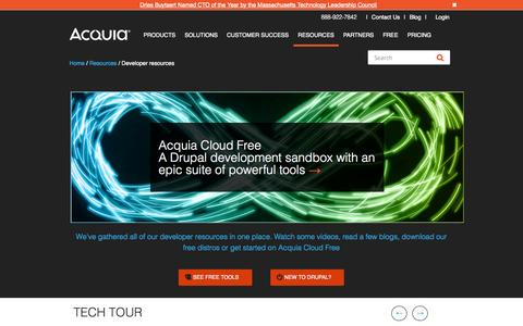 Screenshot of Developers Page acquia.com - Drupal Developers | Acquia - captured Sept. 13, 2014