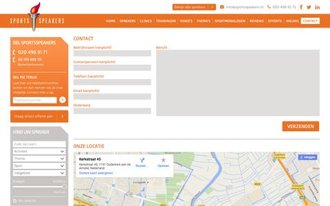 Screenshot of Contact Page sportsspeakers.nl - Contact | SportsSpeakers - captured Jan. 11, 2016