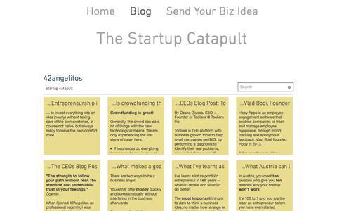 Screenshot of Blog 42angelitos.com - 42angelitos startup blog for entrepreneurs - captured June 18, 2017