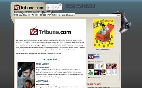 Screenshot of About Page vgtribune.com - VG Tribune - captured Oct. 7, 2014