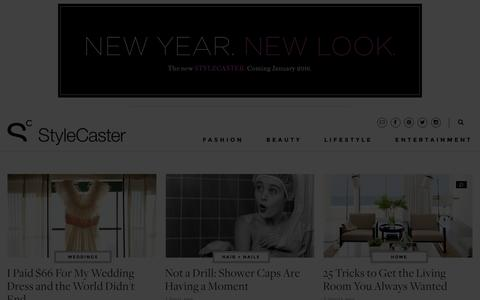 Screenshot of Home Page stylecaster.com - Style News and Trends | StyleCaster - captured Jan. 13, 2016