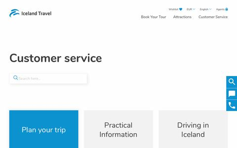 Screenshot of FAQ Page Support Page icelandtravel.is - Customer service | Iceland Travel - captured Aug. 30, 2018