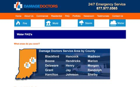 Screenshot of FAQ Page damagedoctors.com - FAQ - Damage Doctors - captured July 31, 2016