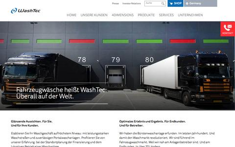 Screenshot of Home Page washtec.de - Autowaschanlagen Waschanlagen & Autowaschtechnik - captured Nov. 28, 2016