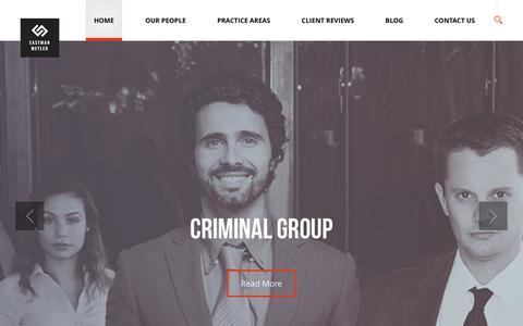 Screenshot of Home Page emfirm.com - Eastman Meyler, PC - captured Nov. 12, 2016