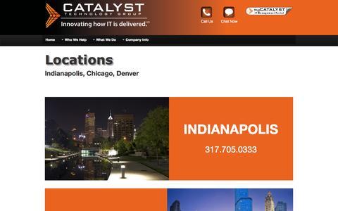 Screenshot of Locations Page catalysttg.com - Locations - captured Oct. 2, 2014