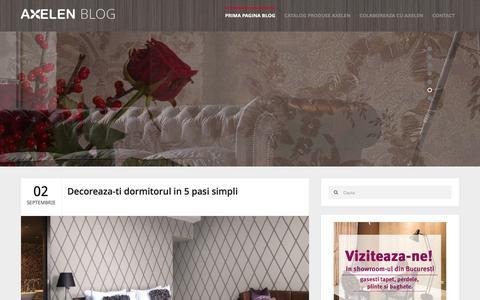 Screenshot of Blog axelen.ro - Blog Axelen � Articole utile despre amenajari interioare - captured Dec. 28, 2015