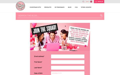 Screenshot of Signup Page soapandglory.com - E-News Sign Up | Soap & Glory Blog - captured Oct. 31, 2017