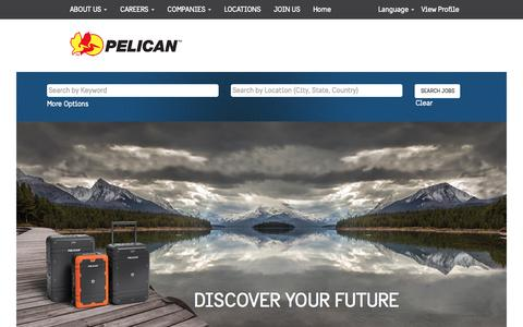 Screenshot of Jobs Page pelican.com - Careers at Pelican Products - captured Jan. 30, 2017