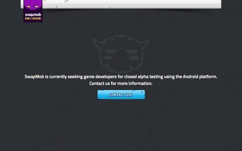 Screenshot of Developers Page swapmob.com - SwapMob - captured Oct. 25, 2014