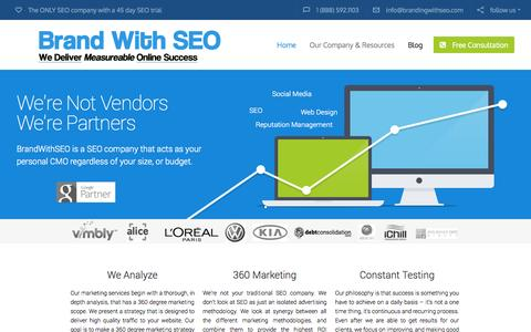 Screenshot of Blog brandingwithseo.com - SEO Company | 45 Day SEO Services Trial | Top Rated SEO Firm - captured Sept. 18, 2014