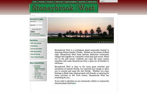 Screenshot of Menu Page mystoneybrookwest.com - Stoneybrook West Home Owners Association - Home - captured Oct. 7, 2014