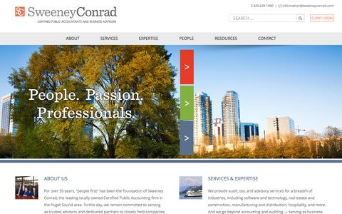 Screenshot of Home Page sweeneyconrad.com - Home - Sweeney Conrad - captured Feb. 28, 2016