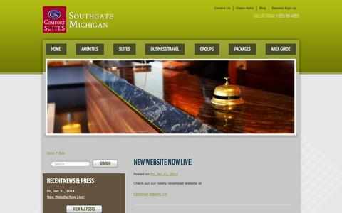 Screenshot of Blog comfortsuitessouthgate.com - Southgate, Michigan Comfort Suites - captured Oct. 2, 2014