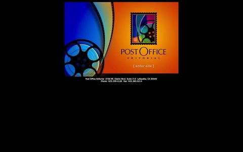 Screenshot of Home Page postoffed.com - Post Office Editorial - captured Oct. 8, 2014