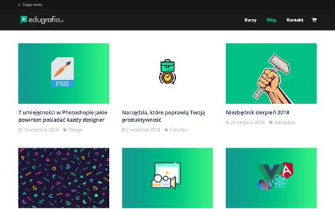 Screenshot of Blog edugrafia.pl - Kreatywny Blog dla fotografa, grafika, marketing, montaż wideo, wordpress, freelancer - captured Sept. 23, 2018