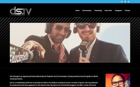 Screenshot of Home Page danstrange.tv - Dan Strange TV   Sports presenter and commentator - captured Sept. 11, 2015