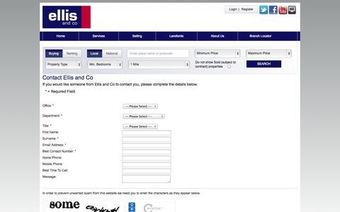 Screenshot of Contact Page ellisandco.co.uk - Ellis and Co - Contact Us - captured Nov. 4, 2014