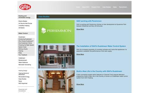 Screenshot of Case Studies Page gah.co.uk - GAH - Dualstream Case Studies - captured Oct. 1, 2014