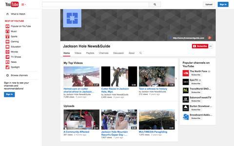Screenshot of YouTube Page youtube.com - Jackson Hole News&Guide  - YouTube - captured Oct. 23, 2014