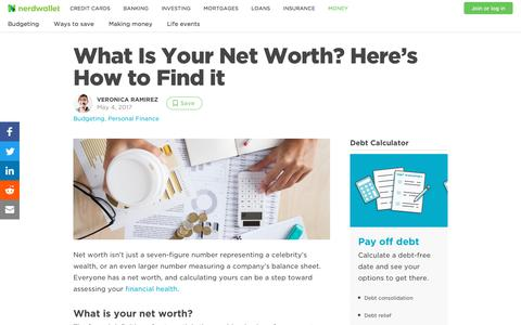 What Is Your Net Worth? Here's How to Find it - NerdWallet