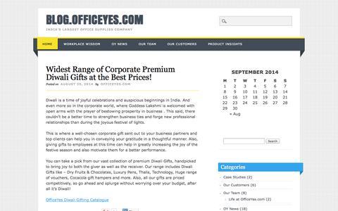 Screenshot of Blog officeyes.com - blog.officeyes.com - captured Sept. 24, 2014