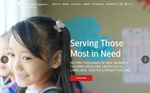 Screenshot of Home Page voa-gny.org - Volunteers of America-Greater New York - Homepage | Volunteers of America - captured Feb. 17, 2016