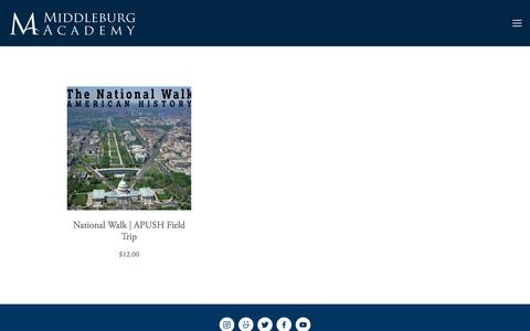 Screenshot of Products Page middleburgacademy.org - Products — Middleburg Academy - captured June 10, 2017