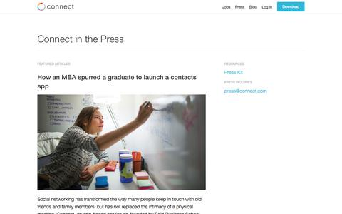 Screenshot of Press Page connect.com - Connect | Press - captured Sept. 24, 2015
