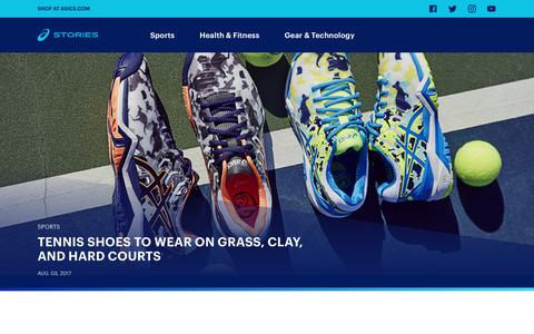 Screenshot of Blog asics.com - ASICS Stories - US - Sports, Fitness and Inspiration articles from ASICS - captured Aug. 4, 2017