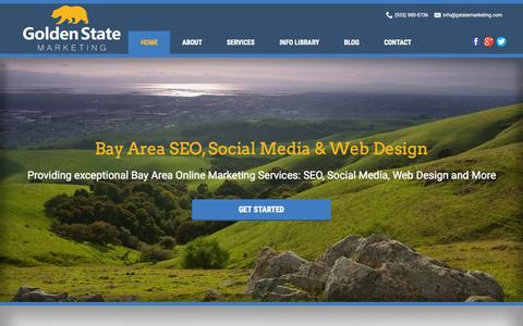 Screenshot of Home Page gstatemarketing.com - Golden State Marketing: Bay Area SEO & Website Design - captured Jan. 23, 2015