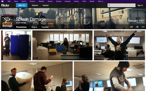 Screenshot of Flickr Page flickr.com - Flickr: Splash Damage's Photostream - captured Oct. 25, 2014