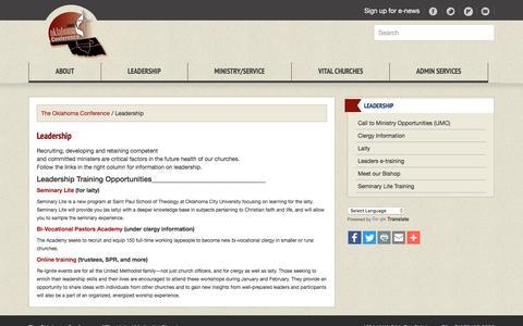Screenshot of Team Page okumc.org - Leadership - captured Nov. 29, 2016