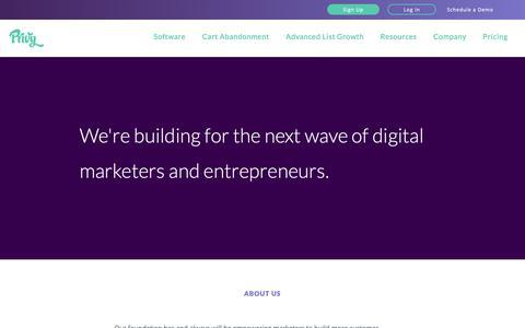 Screenshot of About Page privy.com - Our Mission — Privy - captured Nov. 5, 2018