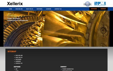Screenshot of Site Map Page xellerix.com - Xellerix - Sitemap - captured Oct. 7, 2014