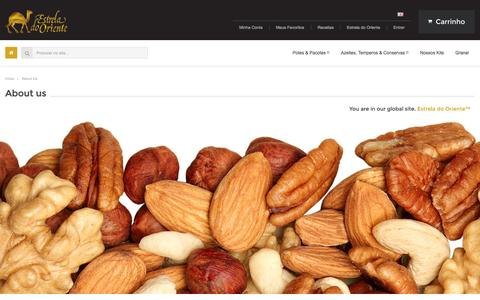 Screenshot of About Page estreladooriente.com.br - About Us  - Estrela do Oriente - captured Oct. 27, 2014