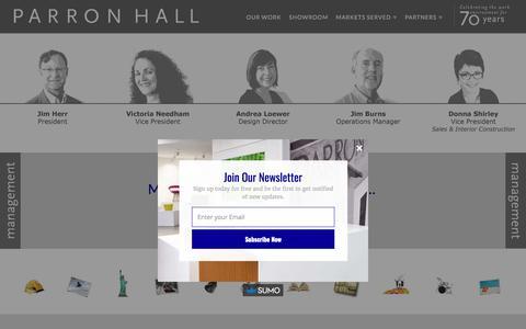 Screenshot of Team Page parronhall.com - Our Management   Parron Hall San Diego, CA - captured July 14, 2017